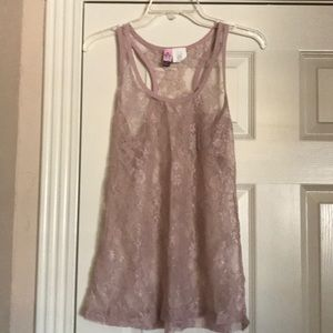 Love on a Hanger lace tank top